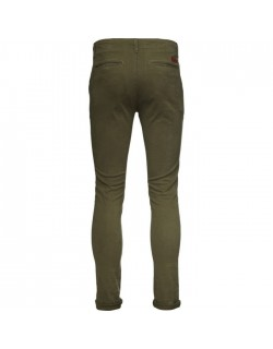 PISTOL JOE CHINO SLIM STRETCH GOTS BURNED OLIVE-00
