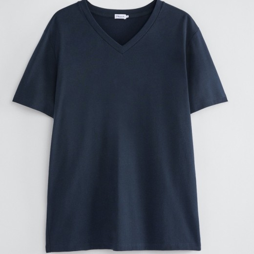 Soft Lycra V-Neck tee Navy-33