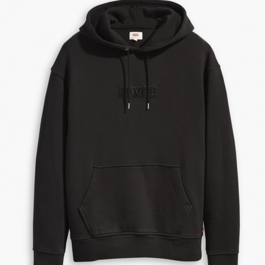 Relaxed Graphic Hoodie Sort-31
