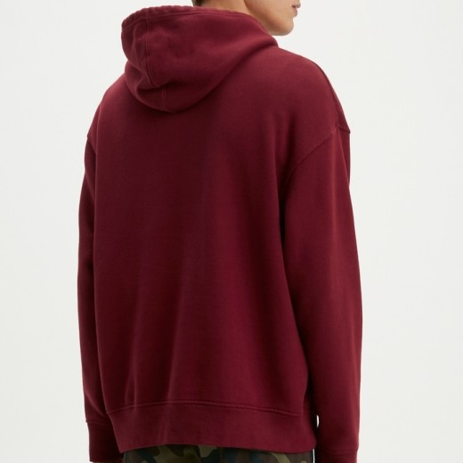 Relaxed Graphic Hoodie rød-03