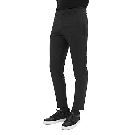 Terry Cool Wool Trousers Black-03