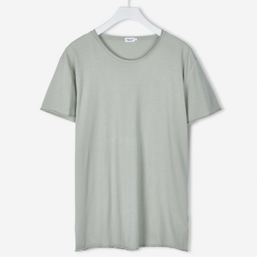 Roll Neck Tee Limestone-34