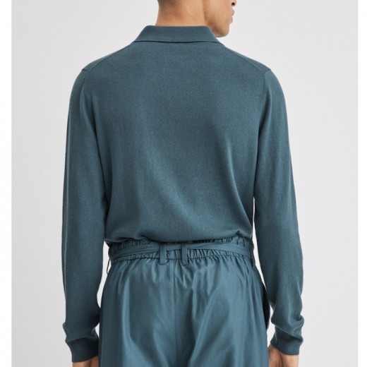 Lars Sweater Mint Charcoal Blue-03