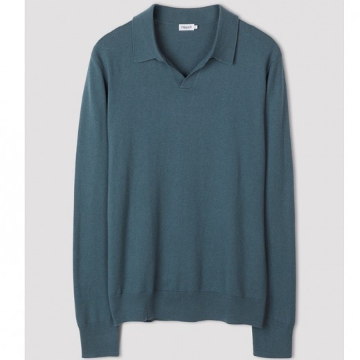 Lars Sweater Mint Charcoal Blue-33