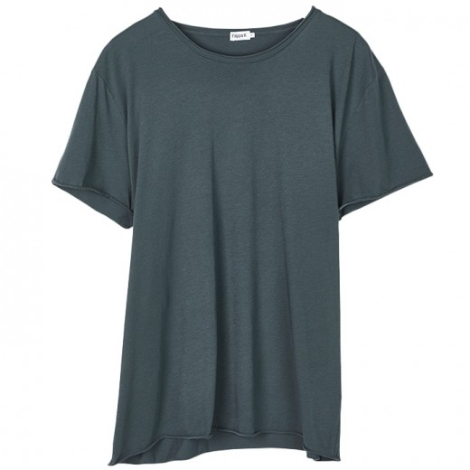 Roll Neck Tee Stone Green-37