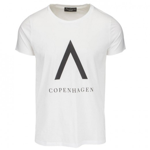 CPH Print Tee White with Black-32