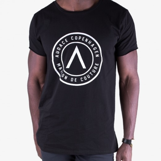 Maison De Couture Tee Black with white-01