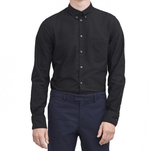 PAUL OXFORD SHIRT Black-01
