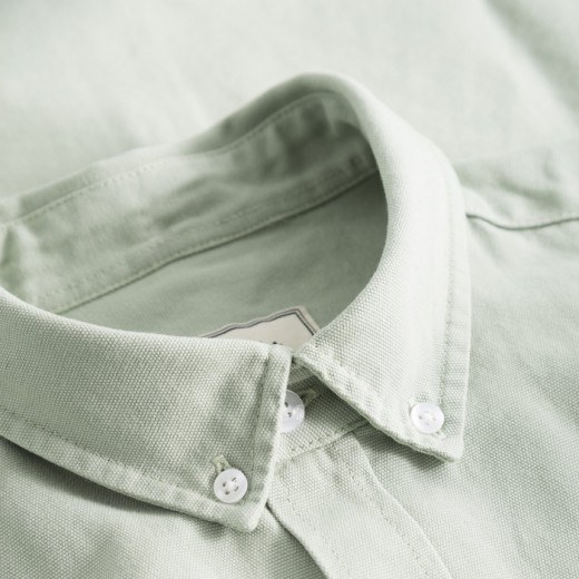 Bear Canvas Shirt Sage Green-01