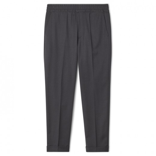 Terry Cropped Trouser Grey Melange-31