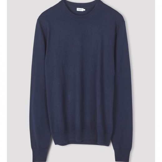 Cotton Merino Sweat Navy-32