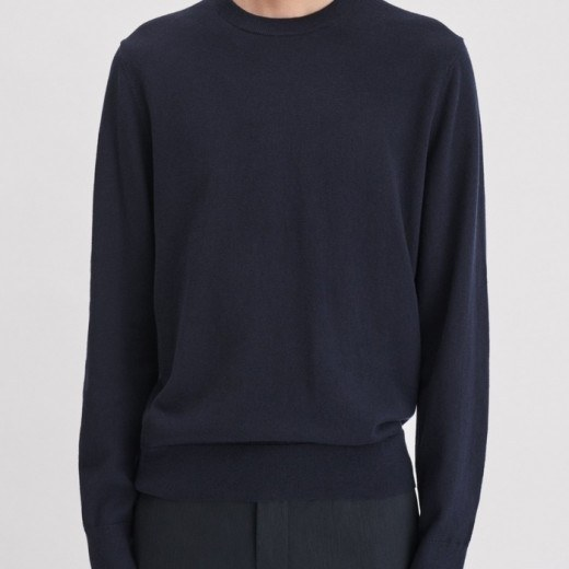 Cotton Merino Sweat Navy-02