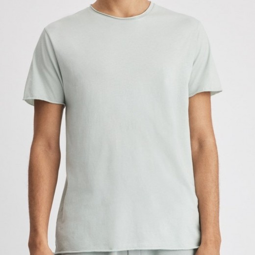 Roll Neck Tee Faded Aqua-31