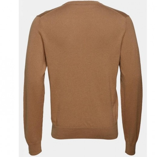 Cotton Merino Sweater Tobacco-01
