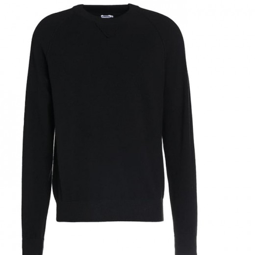 Wool Elastane Sweatshirt Black-31