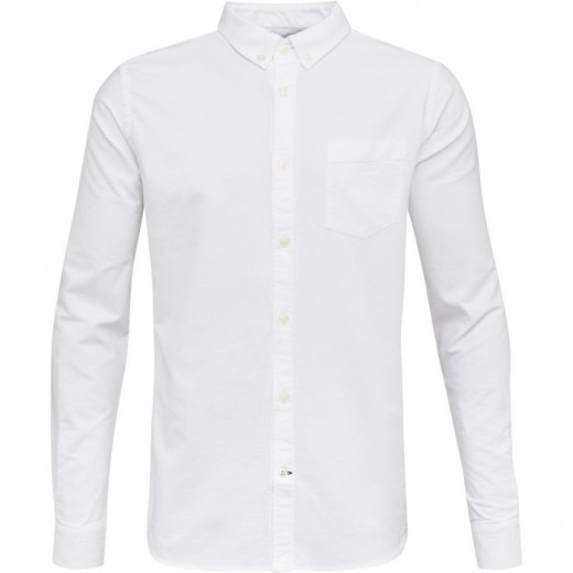 Oxford Skjorte button down hvid-31