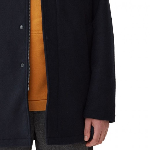 Mac Wool Coat Navy-01