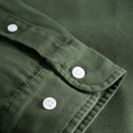 LUMBER SHIRT DARK GREEN-01