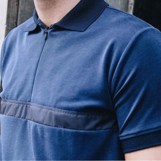 Nylon Polo Navy-01