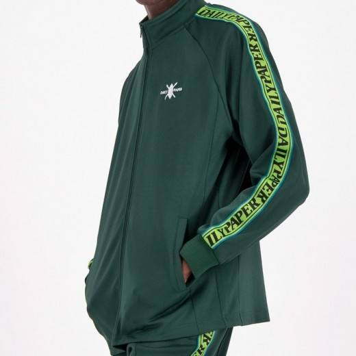 Tapevest Track Top Dark Green-02