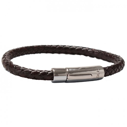 Armbånd smalt Dark Brown-03