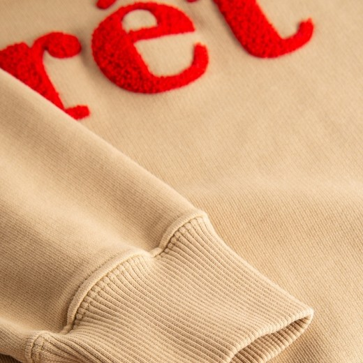SPRUCE Sweatshirt KHAKI/RED-01