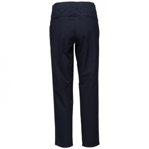 Terry Cropped Cotton Pants Navy-01