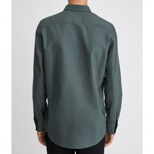Tim Oxford Shirt Stone Green-01