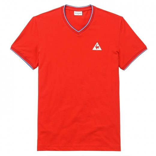 TRI LF Tee SS V n€1 M pur rouge-31