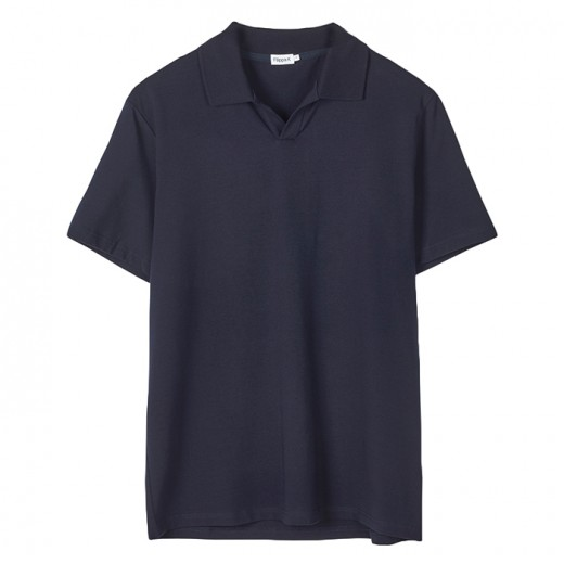 Lycra Polo T-shirt Navy-31
