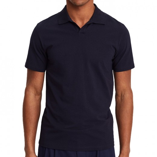Lycra Polo T-shirt Navy-01