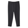 Terry Gabardine Cropped Trouser Anthracrite-01